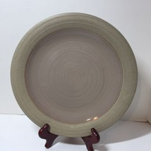 """Dinner Plate Mikasa Potter's Art Cafe Latte Stoneware Brown 11.5"""" Chipped - $14.50"""