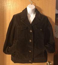 Women's Eddie Bauer Corduroy Jacket, Size Medium, Brown - $19.99