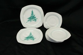 Nikko Evergreen Saucers and Salad Plates Lot of 10 - $48.99