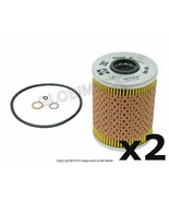 BMW E34 Oil Filter Kit Set of 2 MAHLE +1 YEAR WARRANTY - $31.20