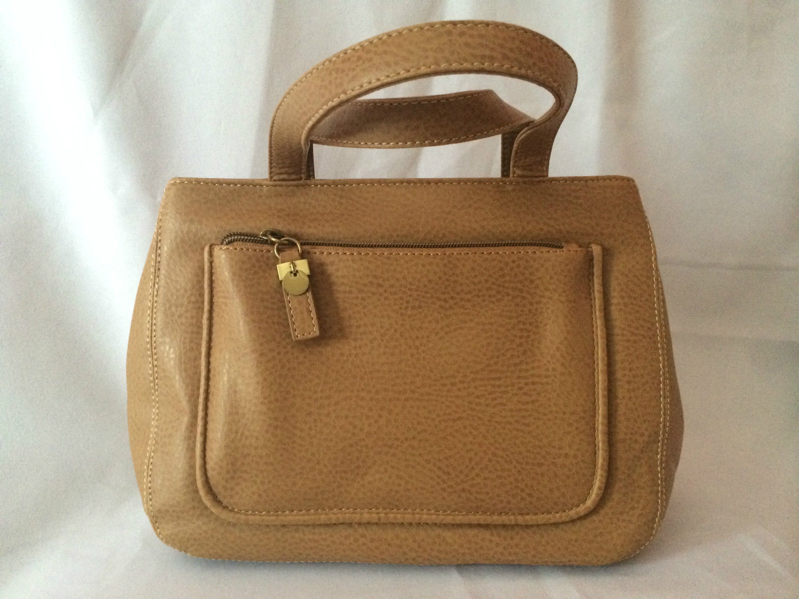 RELIC Brand Quality Brown Leather Bag with Detachable Shoulder Strap NEW! 381bdf9a4886f