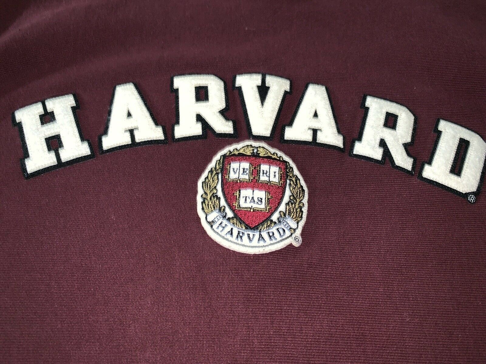 Champion Reverse Weave Sweatshirt Harvard Men's Size M Burgundy L/S Exc Cond image 2