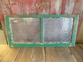 ANTIQUE PANEL WOOD REPLACEMENT 32X28 WINDOW DISTRESSED DECORATOR WALL ART PAIR