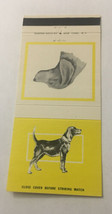 Vintage Matchbook Cover Matchcover Dog Hound On Yellow Background - $4.75