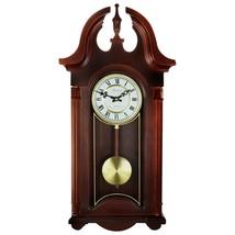 "26.5"" Bedford Chiming Pendulum Wall Clock in Colonial Mahogany Cherry Oa... - $116.81"