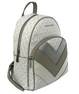 Michael Kors Abbey Monogrammed PVC Medium Backpack Bright White RRP £360 - $366.29