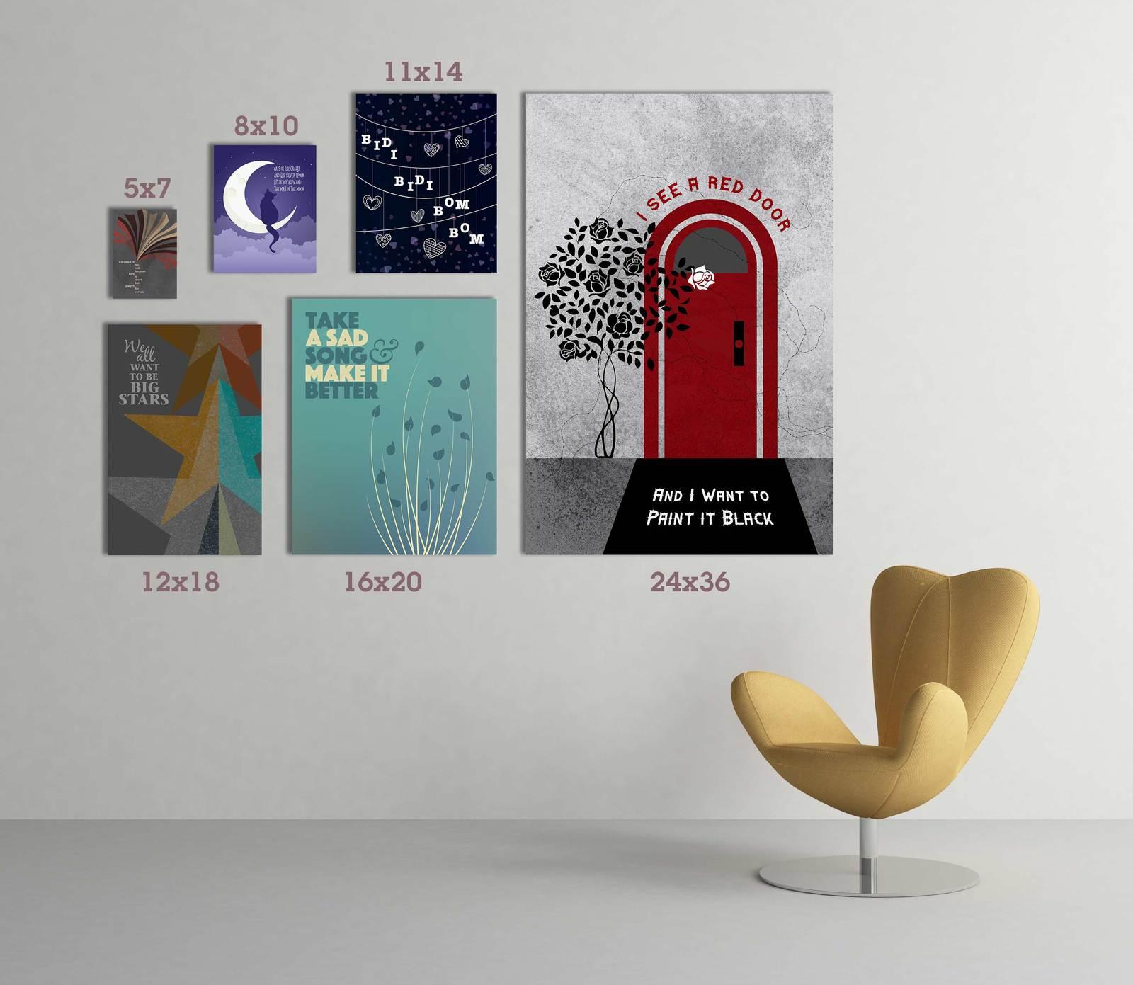 Bidi Bidi Bom Bom Print Poster Selena Quintanilla Lyric Inspired Artwork Entertainment Memorabilia Music Memorabilia