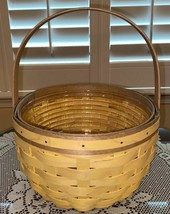 Longaberger 2021 Yellow Round Mother's Day Basket Set Norman Rockwell New - $153.44