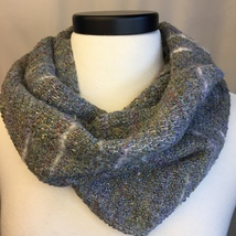 Handwoven Cowl from Hand-dyed Stones Warp - $80.00