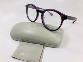 New Calvin Klein CK5932 222 Tortoise & Purple Eyeglasses 51mm with Case - $52.47