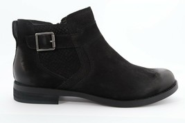 Abeo Yana Ankle Booties Black Nubuck Women's Size US 7 Neutral Footbed()4992 - $100.00