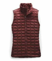 HTF! NEW THE NORTH FACE THERMOBALL GARNET RED MATTE SLIM FIT ECO VEST JA... - $103.46
