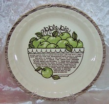 Vtg Royal China Jeannette-Deep Dish APPLE Pie Plate/ Baker w/ Recipe EVUC - $12.95