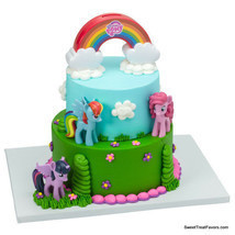 MY LITTLE PONY Cake Birthday Party Decoration Favors Topper Rainbow Hors... - $19.75