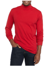 NWT Saddlebred Soft  Motion Stretch Fabric L/S Turtle Neck XL  Red Msrp.... - $12.19