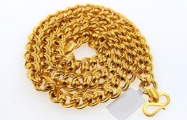 AUTHENTIC 22K 22CT YELLOW GOLD EXCLUSIVE MENS ROLO INTERLOCKING LINKS CHAIN - $2,821.03