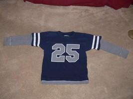 The Childrens Place 25 Navy Long Sleeve Shirt Boys Size S 5/6 ek - $5.99