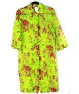 VINTAGE Dolce&Gabbana Sheer Tunic 3/4 Sleeve Floral Snap Button One Size... - $179.33