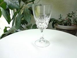 Cris D' Arques Pompadour Pattern Clear Crystal Wine Glass Multiple Avail - $7.92