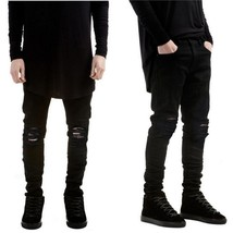 Ripped Jeans Men Destroyed Denim Jeans With Holes Denim Skinny Slim flexible Jea - $30.60