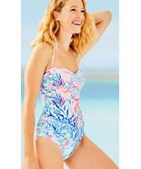 Lilly Pulitzer Flamenco Crew Blue Tint Kaleidoscope Coral One Piece Swim... - $138.00