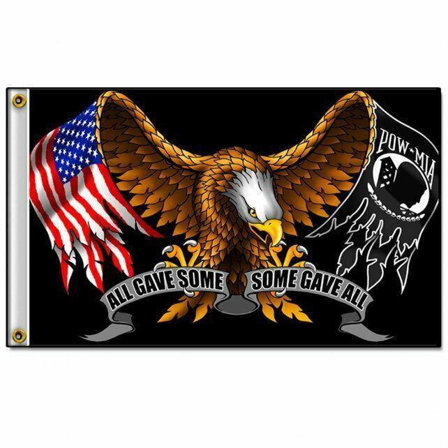 Patriotic All Gave Some Eagle United States America USA Wall Flag Banner FGA1019 - $16.93