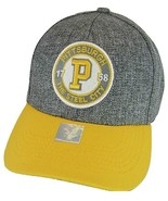 Pittsburgh Steel City Patch Style Adjustable Baseball Cap (Gray/Gold) - $13.49