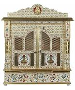 "Movie Time Video Meenakari Golden Home Pooja/Puja Mandir with Doors 22"" ... - $445.49"