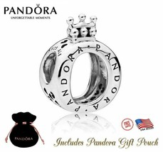 New Authentic S925 Sterling Silver Pandora Bracelet Bead Charm Crown O 7... - $28.04