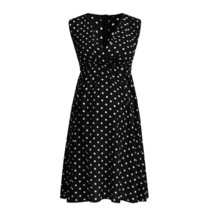 Maternity's Dress V Neck Dotted Print Sleeveless Fashion Dress image 5