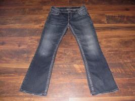 Women's Silver jeans size 31 x 32 Suki Surplus mid rise flap pockets dar... - $37.99