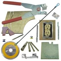 Tile & Glass Cutter Kit Red LH Curve Outlet Jigsaw Rodsaw Grinder Blade ... - $73.87