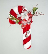 Katherine's Collection wreath candy cane red white Spectacular Christmas... - $249.99