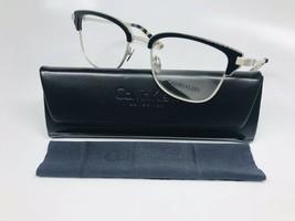 New Calvin Klein Collection CK8066 001 Black & Nickel Eyeglasses 51mm with Case - $59.35