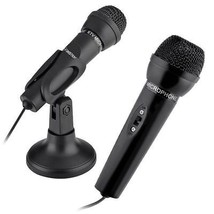 3.5mm Stereo Studio Speech Microphone Mic Stand Mount For PC Laptop Skype - $15.99