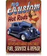 Kustom Hot Rods Pin-Up  Metal Sign - $29.95