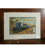 "2 Rocky Mountaineer Classic Art Prints 11""x14"" Train Canada Jode Thompso... - $27.63"