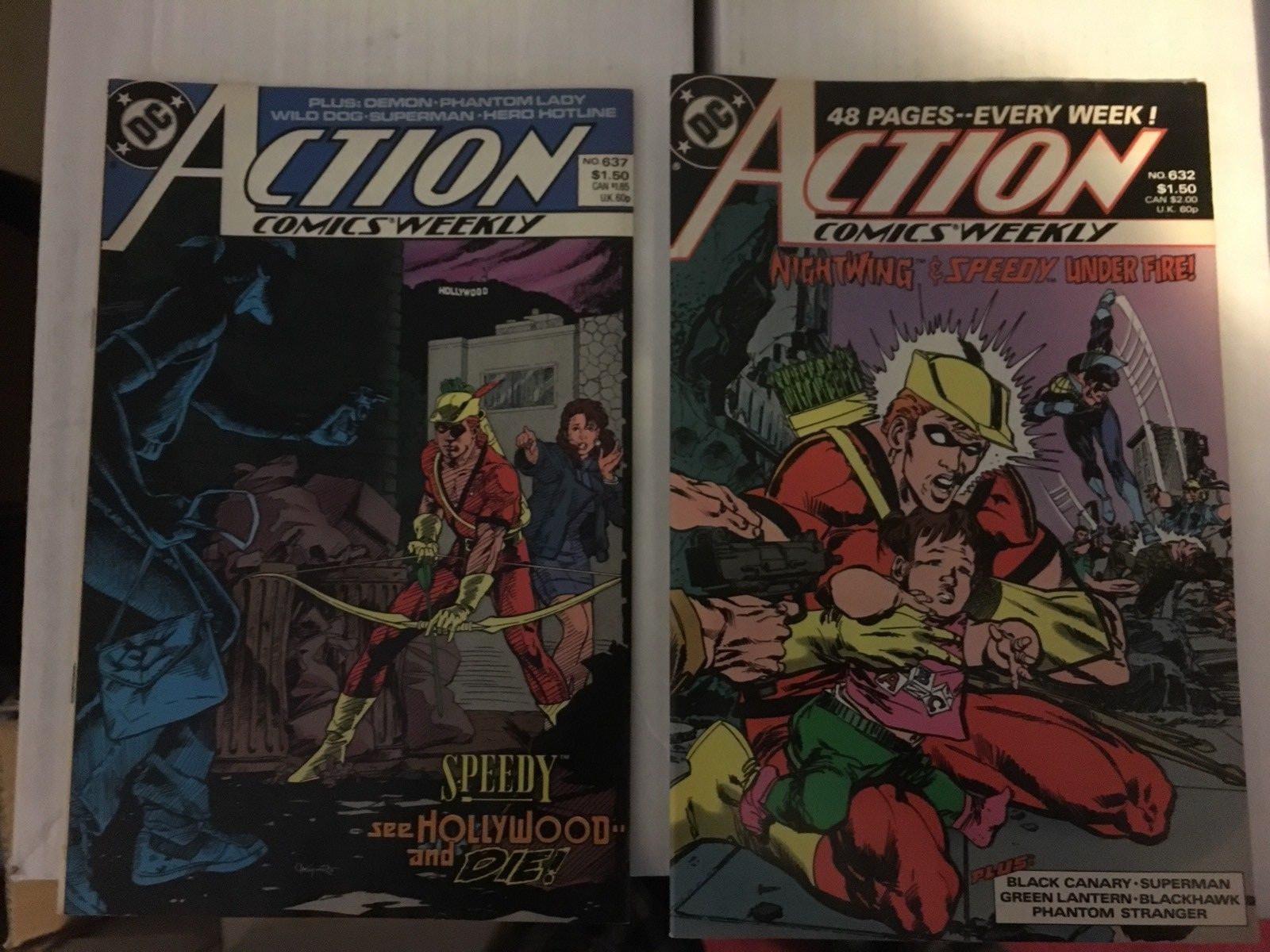 Action Comic #630 - 637 Superman DC Comic Book Lot VF Condition 1988 Phantom