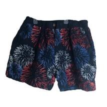 Chubbies Elastic Waist Patriotic Firework Shorts Trunks Men's Size L - $41.12