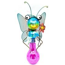 Regal Art & Gift Metal & Glass Butterfly Hanging Solar Light Garden Decor image 2