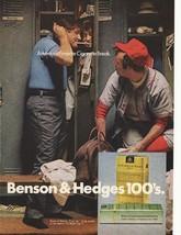 1972 Benson & Hedges 100's Filter Cigarettes Advertisement - $16.00