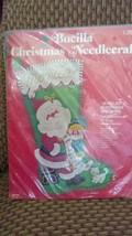 Vintage~Bucilla Felt Stocking Kit~#2813~On Santa's Lap~NIP - $34.29