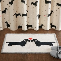 "Luxury Black Dachshund Design Textured Cotton Tufted Bath Rug -20x30"" - $47.49"