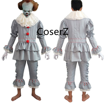 Custom Stephen King's It Pennywise Cosplay Costume Clown Halloween Chris... - £74.23 GBP