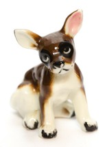 Chihuahua Toy Fox Terrier Puppy Dog Small Figurine Porcelain Vintage  - $11.85