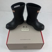 Hunter Boots Biker Original Kids Black waterproof little kids size 9B 10... - $1.021,69 MXN