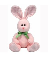 Valley the Pink with Green Polka Dots Easter Bunny Ty Beanie Baby MWMT R... - $7.87