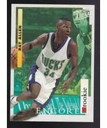 RAY ALLEN 1996-97 FLEER ULTRA #265 ENCORE ROOKIE MILWAUKEE BUCKS HOF - $3.98