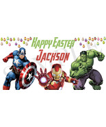 Avengers Easter Basket Sticker, Waterproof and Personalized - $3.25+
