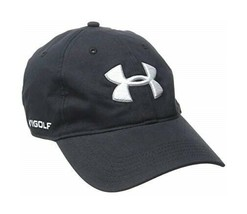 Under Armour Golf Hat Cap Black Men's New Fits All - $18.80